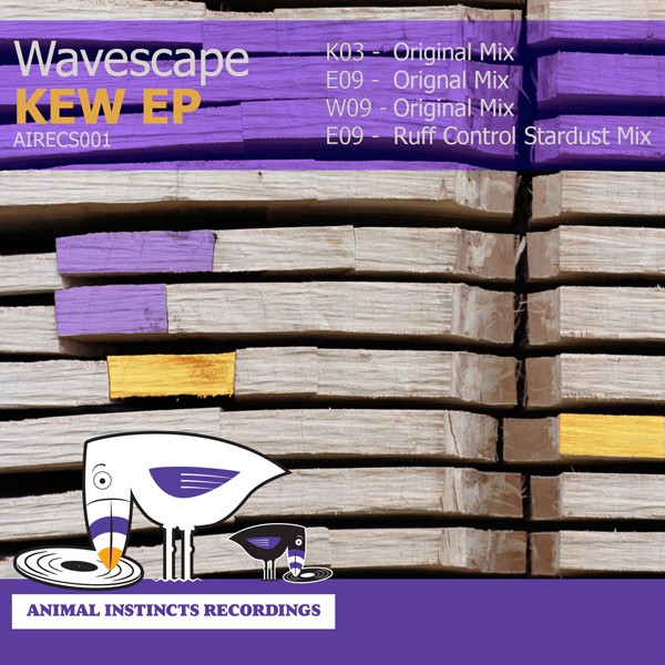 AIRECS001 Wavescape KEW EP album artwork