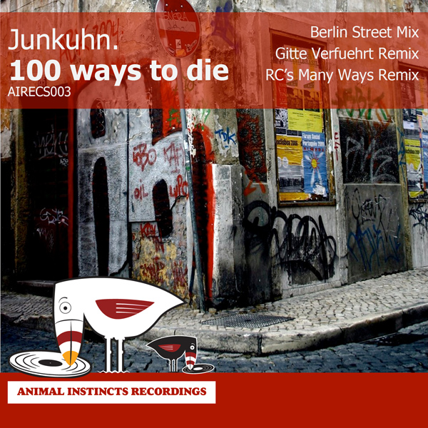 AIRECS003 Junkuhn. One Hundred Ways to Die album artwork